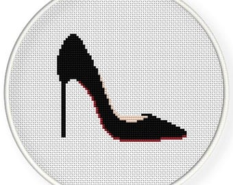 Instant Download,Free shipping,Cross stitch pattern, Cross-StitchPDF,high heel ,shoes,zxxc0905