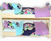 Double Doll Bunk Bed  - Love Water Bouquet! American Made Girl Doll Bunk Bed - Fits 18 inch dolls and AG dolls