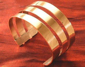 Copper Jewelry Bracelet - Wide Copper Bracelet Cuff BR98