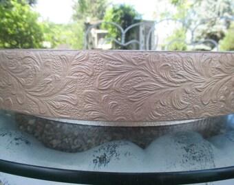 """Rose Gold Wedding Cake Stand,  """"Rose Gold Floral Leaf"""", 14"""" 16"""" 18"""" 20"""" 22""""  cake stand"""