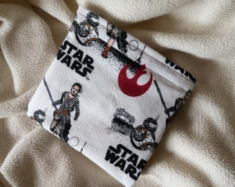 "Reusable Snack Bag, Reusable Sandwich Bag, Party Favor, Grab Bag Gift, Teacher Gift ""New Star Wars Characters"""
