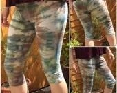 Tie Dye Woodland Pixie Leggings, Yoga Leggings Size Medium