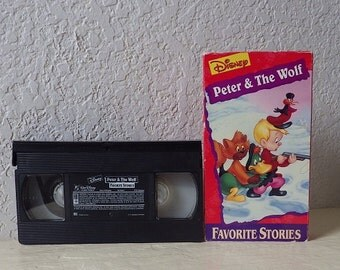 Walt Disney Favorite Stories Home Video: PETER and the WOLF. VHS Tape, Tested, Works