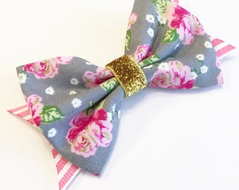 Sweet Floral Mini Bow