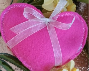 Winter Days~~Valentines Day Heart~~Hand Warmers~~HOT PINK~~Organic~Eco~Friendly~Reusable~~Boo Boo Rice Bags~~FREE Shipping