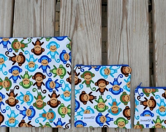 Reusable Snack Bag, Custom Made, Handmade by Zookaboo, YOU Pick Size - Snack, Sandwich, or Gallon
