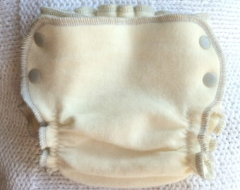 Newborn Wool Diaper Cover , Organic Side Snapping