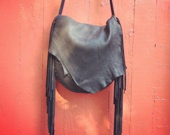 Del Sol Fringe Leather Purse
