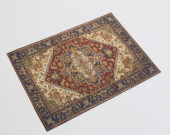 Miniature Dollhouse Rug Victorian or Edwardian Era 1:12 Scale