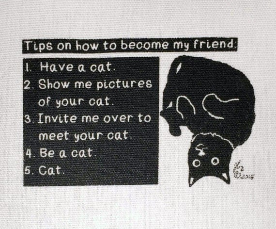 Punk Patches Punk Patch Vegan Animal Rights Animal Liberation Cats Friendship Humor Cute No Dogs No Masters Buy this Meow Small Cloth Patch