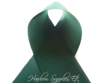 Jungle Green 3/8 inch Solid Grosgrain Ribbon, Hunter Green, Dark Green, Winter Green, Evergreen, Emerald, DIY Bow, Hairbow Supplies, Etc.