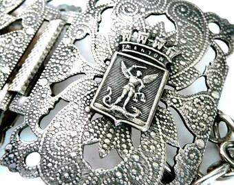 Cote D'Azur Vintage French Souvenir Bracelet with Saint Michael