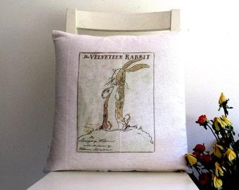 The Velveteen Rabbit - Print on 100% Cotton 16 X 16 Cushion Cover