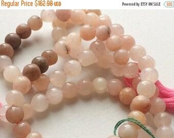 50% VALENTINE SALE Pink Cats Eye Stone, Cats Eye Round Beads, Chrysoberyl Rondelle Beads, 7-8mm Beads, 14 Inch Strand