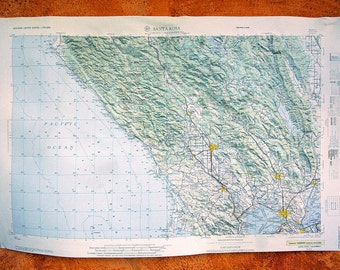 Vintage Raised Relief Topographical Map 1969 U.S. Army Santa Rosa and Surrounding Areas Hubbard Northbrook Illinois Great Condition 31 x 21
