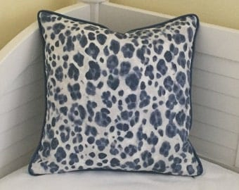 Thibaut Panthera Designer Pillow Cover with Piping - Square and Euro Sizes