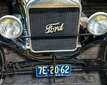 Vintage Ford Model T Car Front End View No.3931 A Fine Art Historical Automobile Photograph