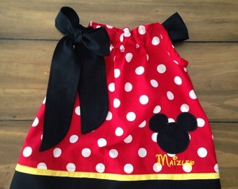 Mickey Mouse Dress with Monogram