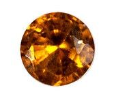 HESSONITE GARNET (20584) Orange 3.5mm Round Sri Lanka Mined Hessonite Garnet - Faceted