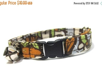 BIG SALE Cat Collar- Zoology in Brown