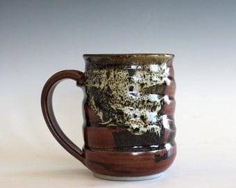 Coffee Mug, 14 oz, unique coffee mug, handmade ceramic cup, handthrown mug, stoneware mug, pottery mug, ceramics and pottery