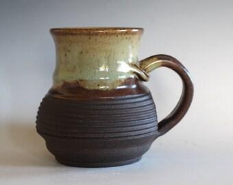Ceramic Mug, 15 oz, ceramic cup, handthrown mug, stoneware mug, pottery mug, unique coffee mug, ceramics and pottery