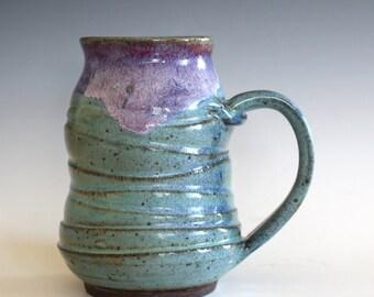 LARGE Pottery Mug, 20 oz,  unique coffee mug, handmade ceramic cup, handthrown mug, stoneware mug, wheel thrown pottery mug, ceramics