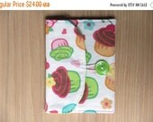 final CLEARANCE Memory Card Wallet, SD Holder - Cupcakes - Ready to Ship