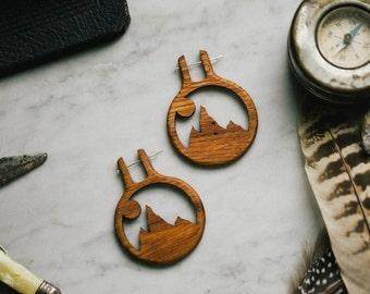 Alpenglow Wooden Earrings
