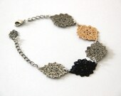 Celtic classic bracelet ,adjustable chain bracelet, 24 karat rose and oxidize silver plated bracelet.