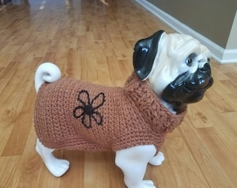 Pug winter sweater