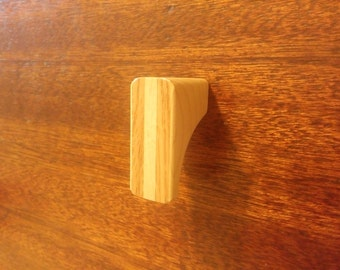 Maple Wood Cabinet Knob with Oak Inlay