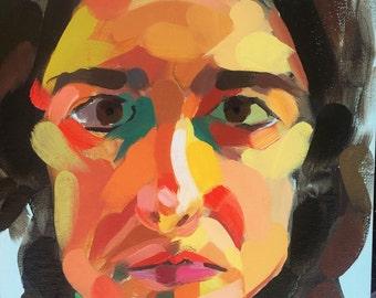 "Self Portrait // Oil on Canvas Board // 9"" x 12"""