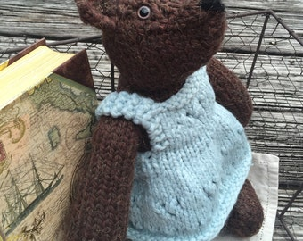 """14"""" Knitted Bear with Dress"""