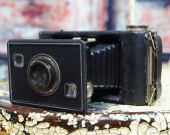 Antique Folding Bellows Camera