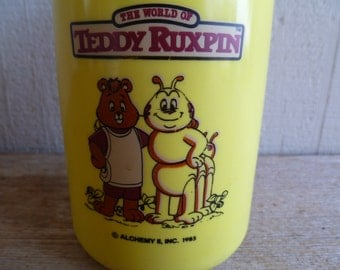Teddy Ruxpin and Grubby Thermos 1985