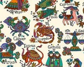 Zodiac by DeLeon Design Group for The Alexander Henry Fabrics Collection 1-1/2 yards
