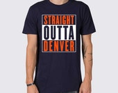 Straight Outta Denver Broncos T-Shirt ( Straight Outta Denver Shirt, Denver Broncos Shirt, Peyton Manning Football Shirt, Super Bowl Shirt )