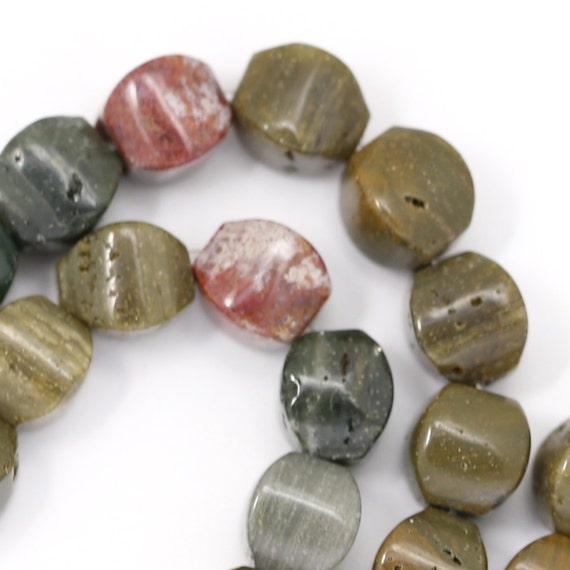 Ocean Jasper Beads - 8x8mm Cushion - Half Strand