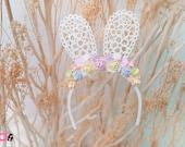 Blythe Rabbit Flowers headband