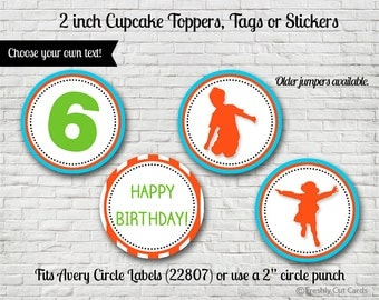 """Everybody Jump 2"""" Treat Toppers or Labels - Printable"""
