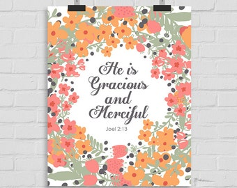 Bible Verse Printable, Scripture Print Christian Wall Art Decor Poster, Bible Typography Joel 2:13 Printable Scripture INSTANT DOWNLOAD
