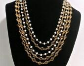 RESERVED FOR S & C-----Vintage Multi Strand Necklace