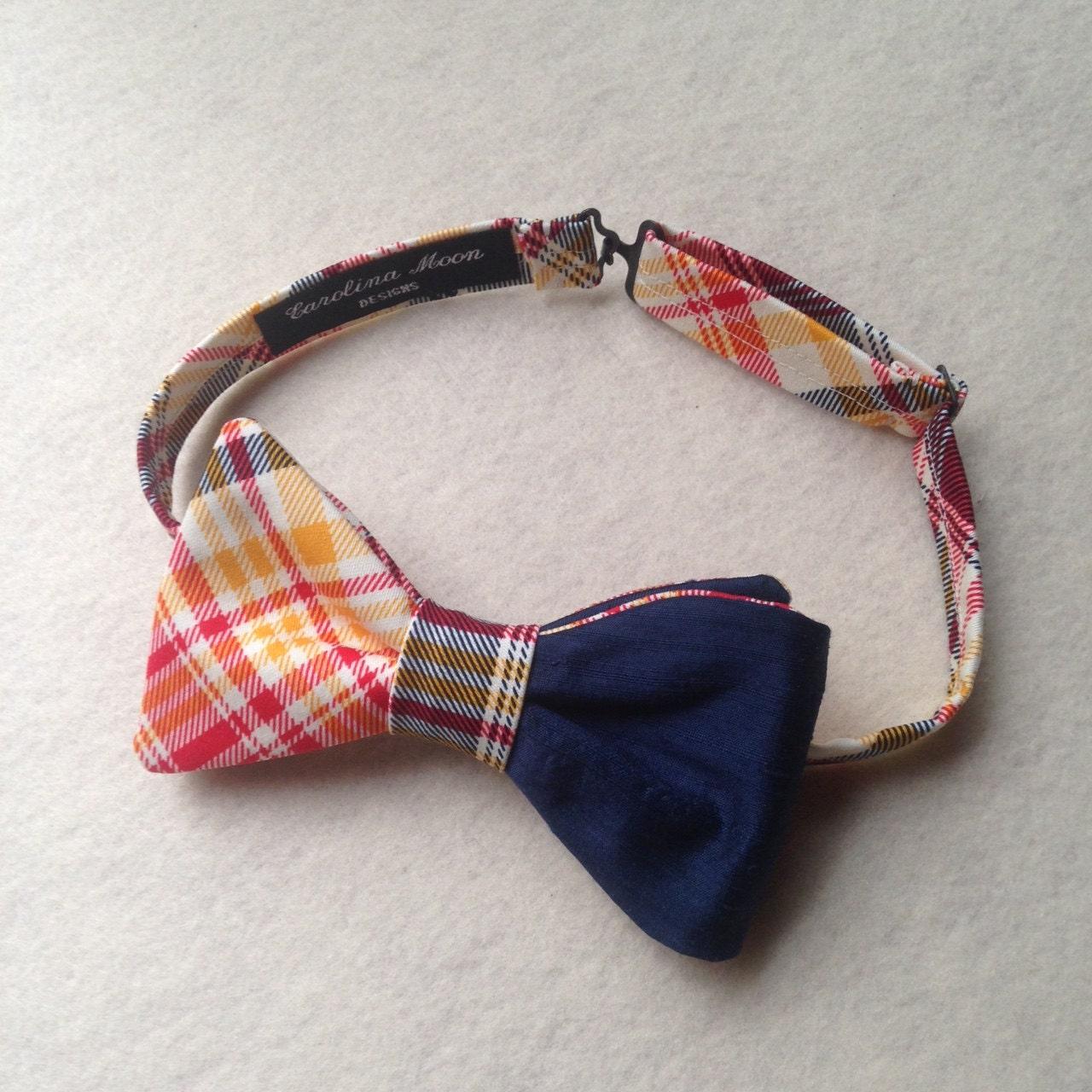 s bow ties custom made bow ties navy blue silk and