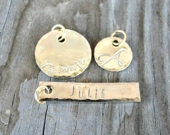 Name Charm - Gold Name Charm - Name Jewelry - Add On Charm