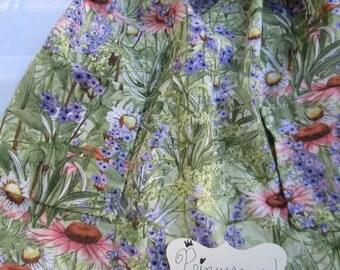 Flower Garden Girl's Skirt w/pockets