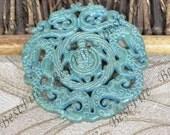 Large Carved dragon Jade Pendant  69mm Gemstone bead ,dragon  tortoise Jade Pendant,Carved  dragon Jade Pendant