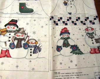 Snow Buddies Easy Cut and Sew Fabric Panel Snowman Vest  XS-S-M-L Dianna Marcum for Marcus Bros