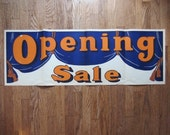 "ON SALE Vintage Silkscreen Opening Sale Poster - Garrison - Wagner Co, St. Louis - Orange and Blue Typography 42"" x 14 1/2"" Qty Available"