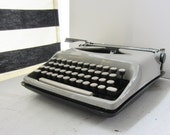 Vintage Portable Manual Typewriter - Remington Premier - Grey with Case 1970's
